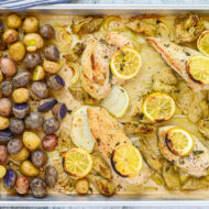 Sheet Pan Chicken with Artichokes and Potatoes