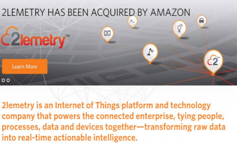 Amazon acquires Internet of Things platform 2lemetry