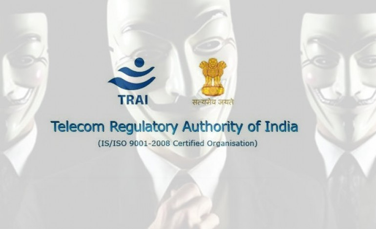 TRAI website down, responsibility claimed by Anonymous India.