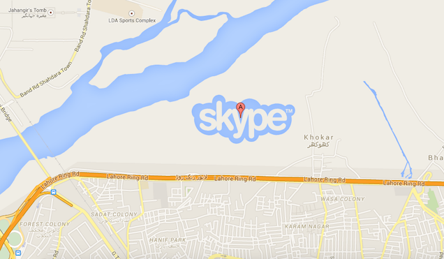 Skype too was on Google Map