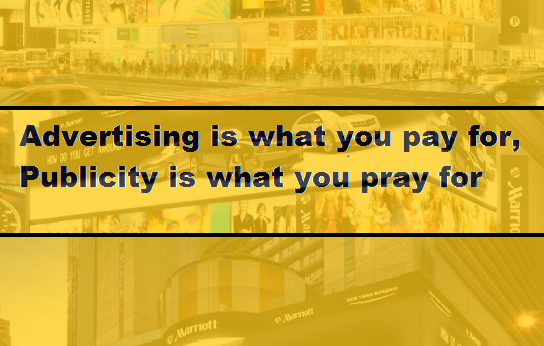 Marketing vs publicity