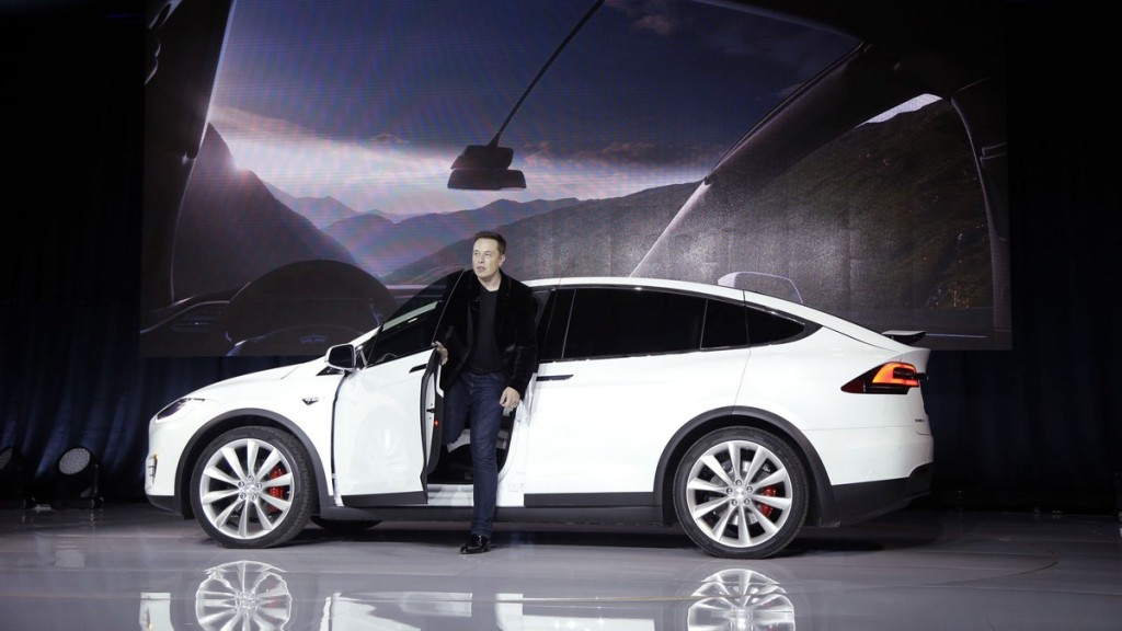 Elon Musk with Tesla X