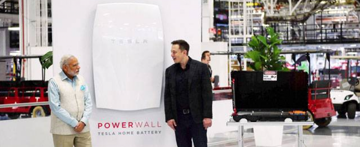 Solar batteries – The Surprising Reason on Why Indian PM Modi Visited Tesla