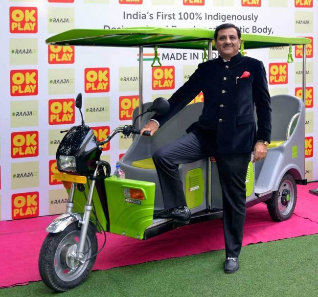 Mr.-Rajan-Handa-Managing-Director-OK-Play-India-Limited-said-launches-ICAT-approved-'E-RAAJA'-India's-first-100-indigenously-designed-developed-and-MADE-IN-INDIA-Plastic-Body