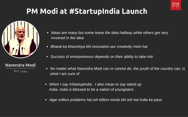 PM Modi at _StartupIndia Launch