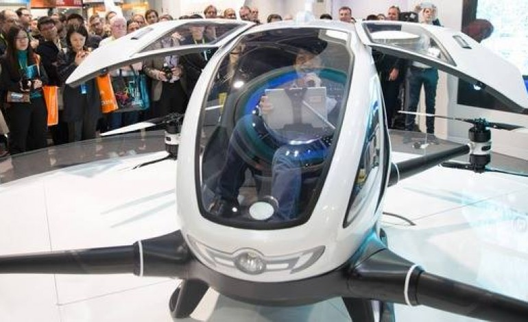 China's Drone Maker Comapny Ehang Unveils First Passenger-Carrying Drone
