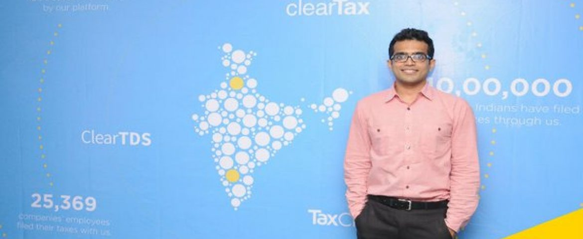 Online Tax Returns Filing Platform ClearTax Raises $2 million (Rs 13.3 crore) Funding