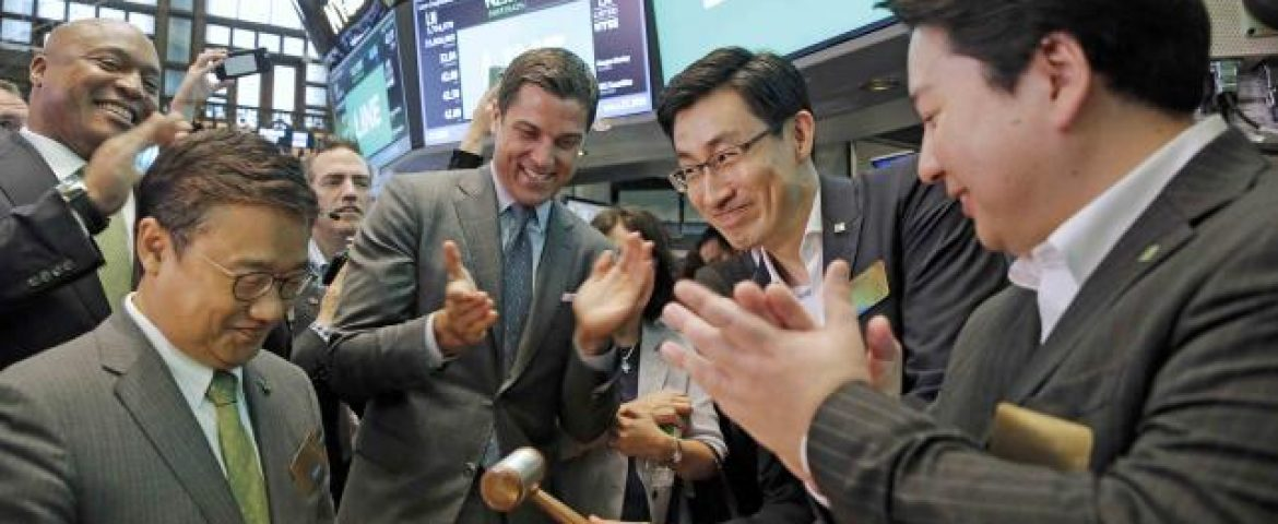 Year's Biggest Tech IPO- Line Launch Goes Well