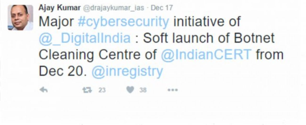 Swachh Internet- Indian Govt to Soft Launch Malware Cleaning System From Dec 20