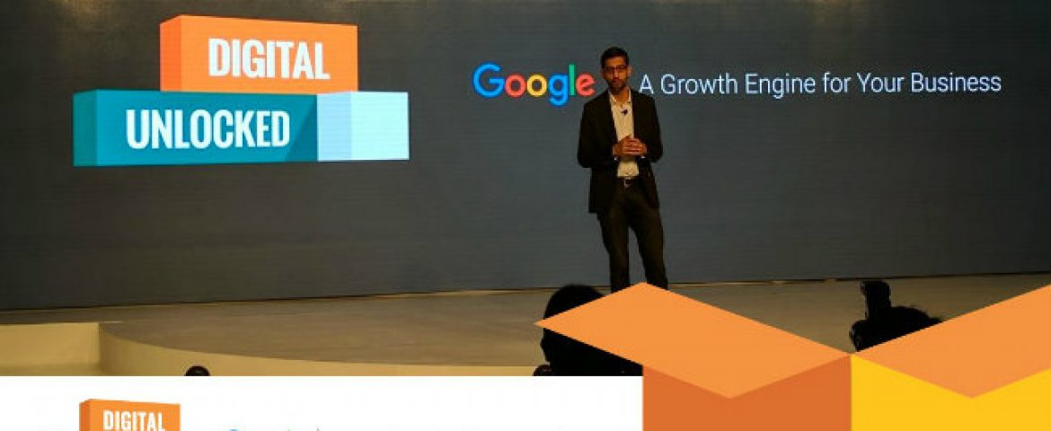 Sundar Pichai Announced Google Digital Unloack Initiatives For Small, Medium Business