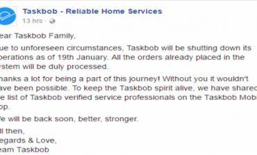 Mumbai Based Home Services Startup Taskbob Shuts Shop