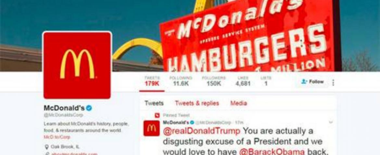 Mc'Donald's Trumpet' – Company Apologises For Hacked Tweet Slamming US President