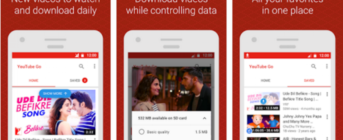 YouTube Go Now Available in Beta, an 'Offline-First' App for India