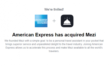 American Express Acquires India's Travel Assistant App Mezi For $150 Million