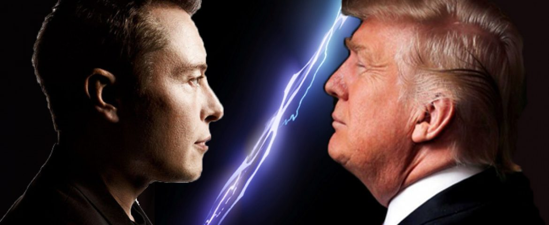 Twitter Argument Between Elon Musk and Donald Trump
