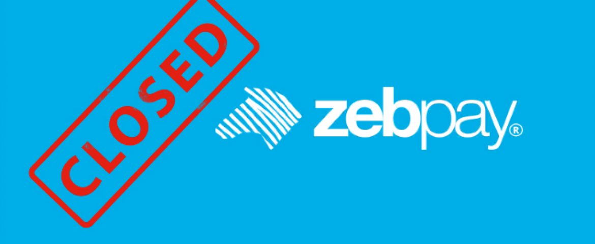 Crypto Currency Exchange Zebpay is Closing Down