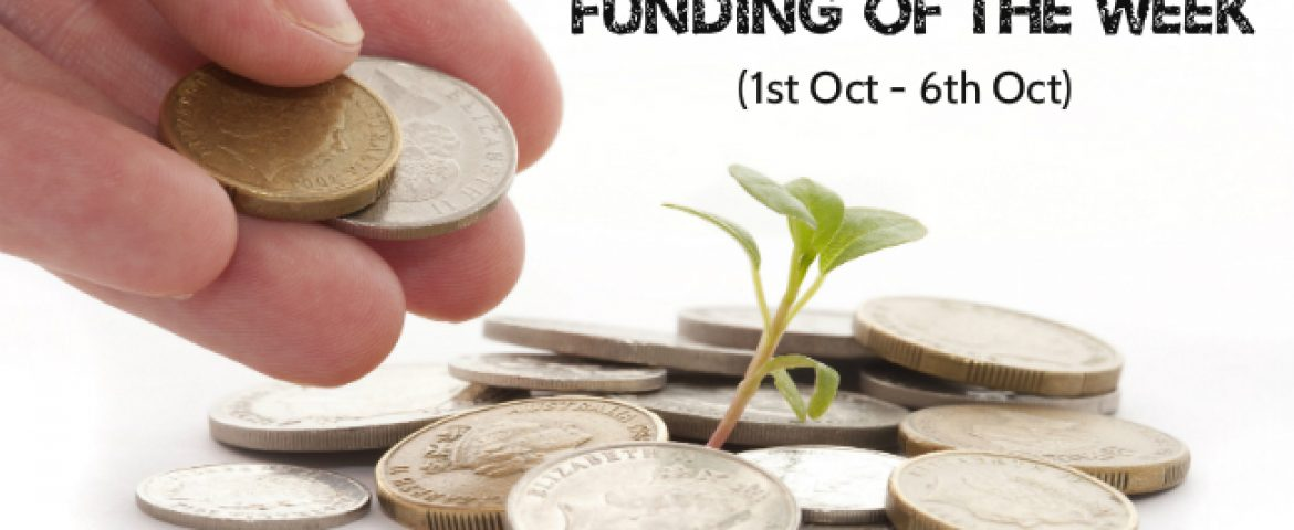Top Five Funding News of the Last Week (1st Oct – 6th Oct)