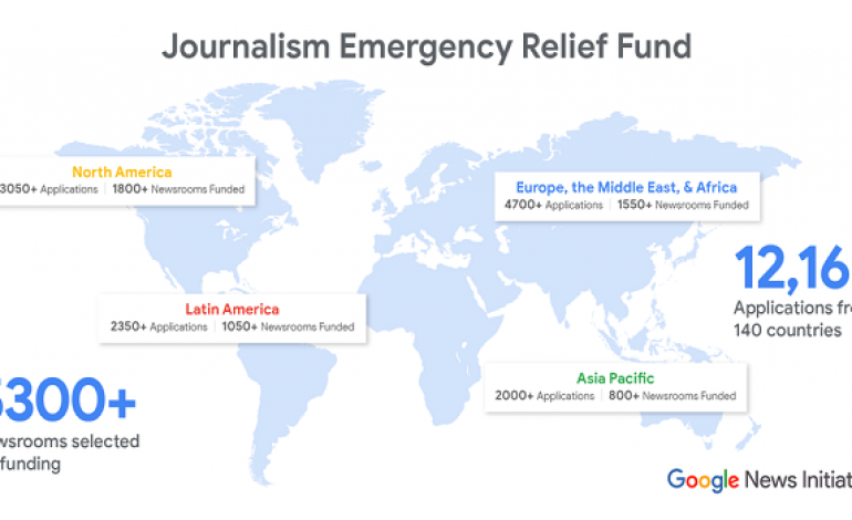 Google gives Emergency Funds to 5,300 local Online News Organizations