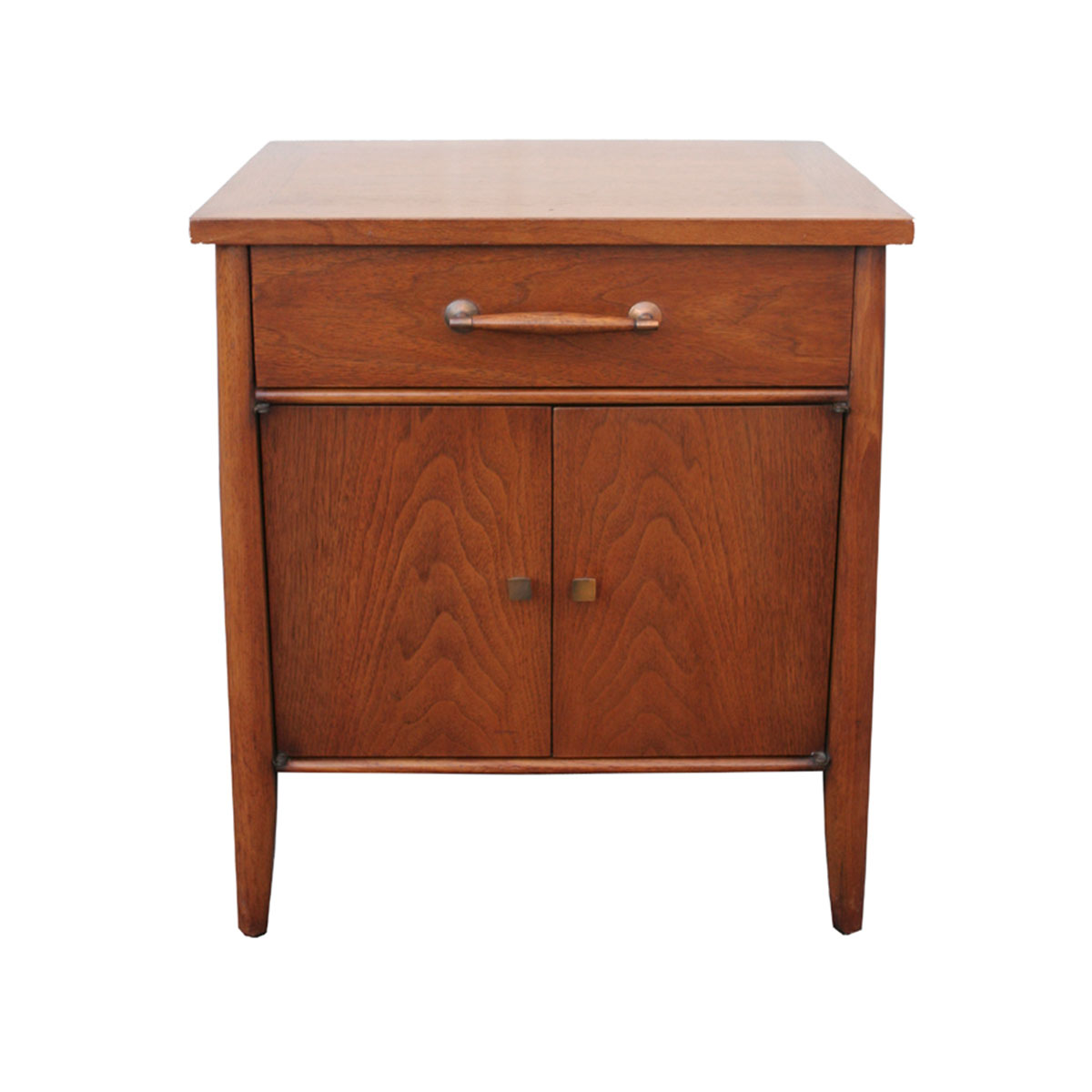 Henredon Mid Century Modern Walnut Nightstand/End Table