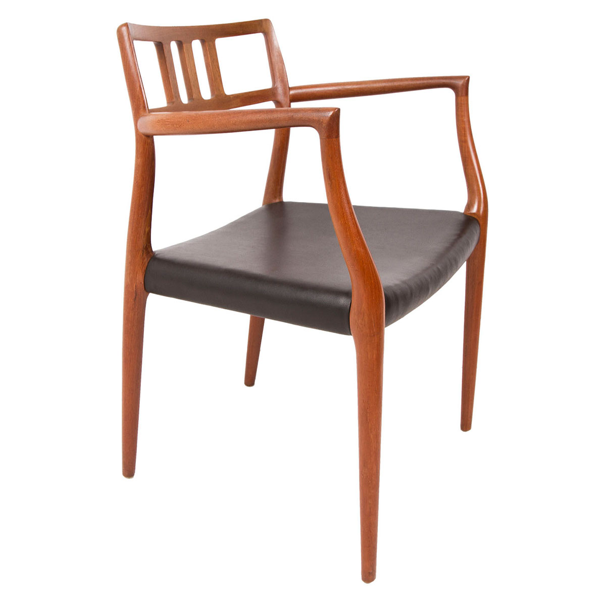 Set of 6 Danish Teak (#64 & #79) Niels Møller Dining Chairs