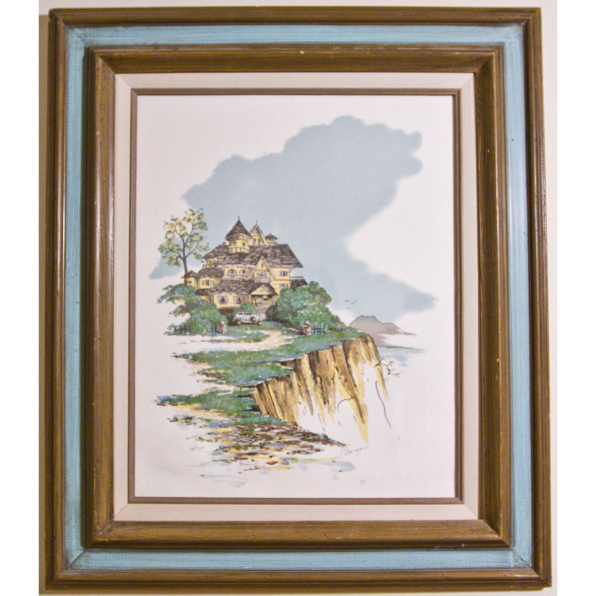 'Cliff Side' House Lithograph 60/300