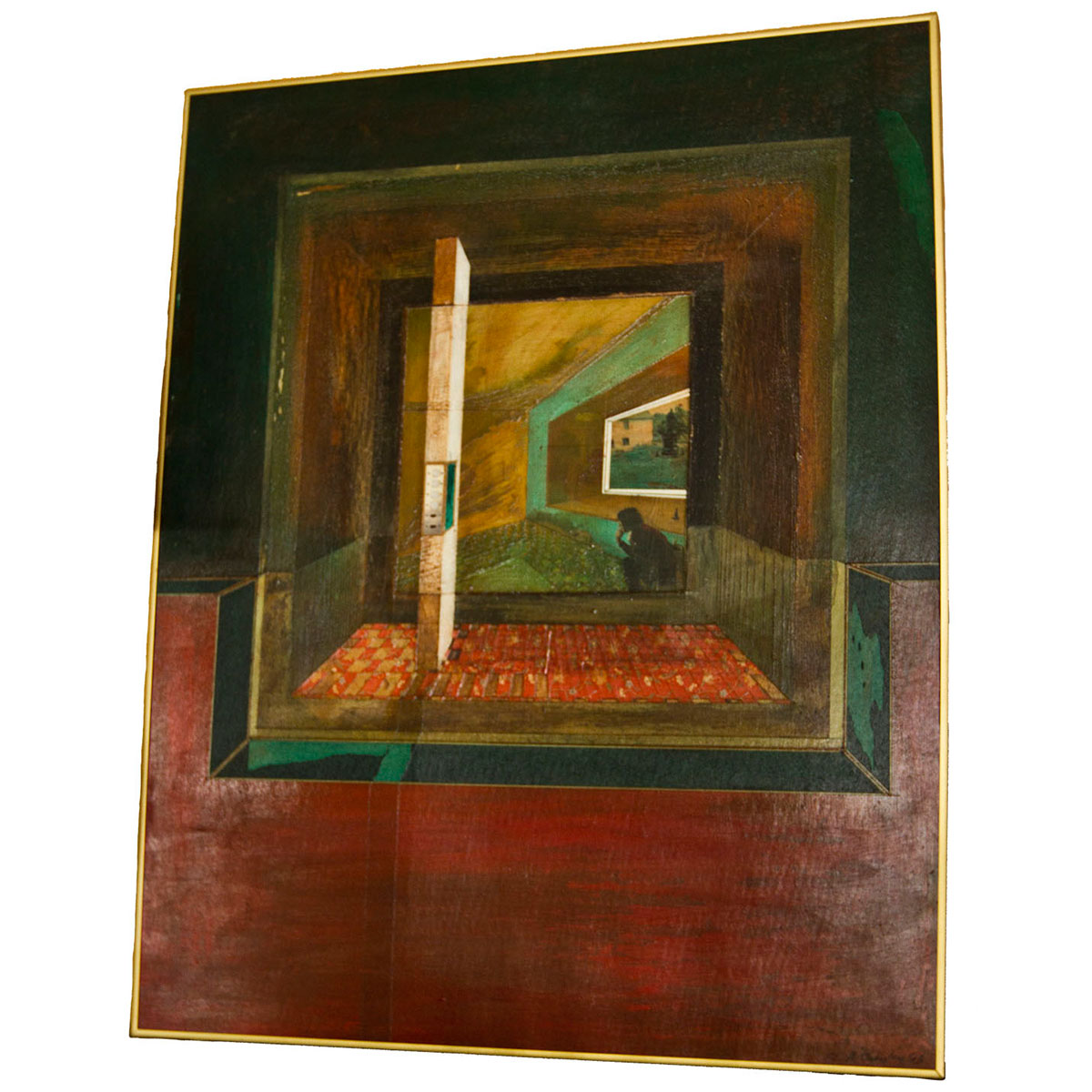 Large Modernist 'Case Study' Perspective Painting