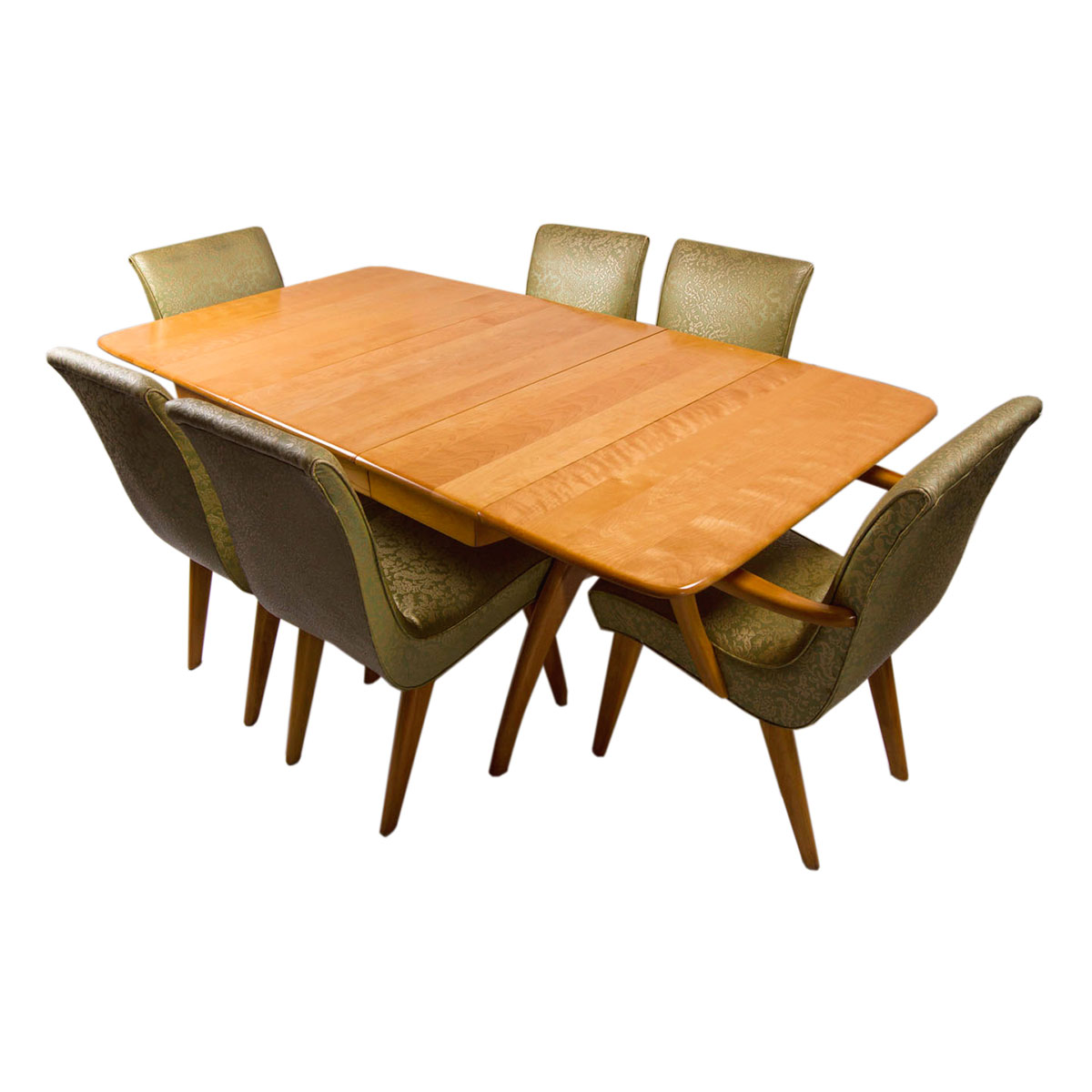 Set of 6 Heywood Wakefield Dining Chairs / Table Set