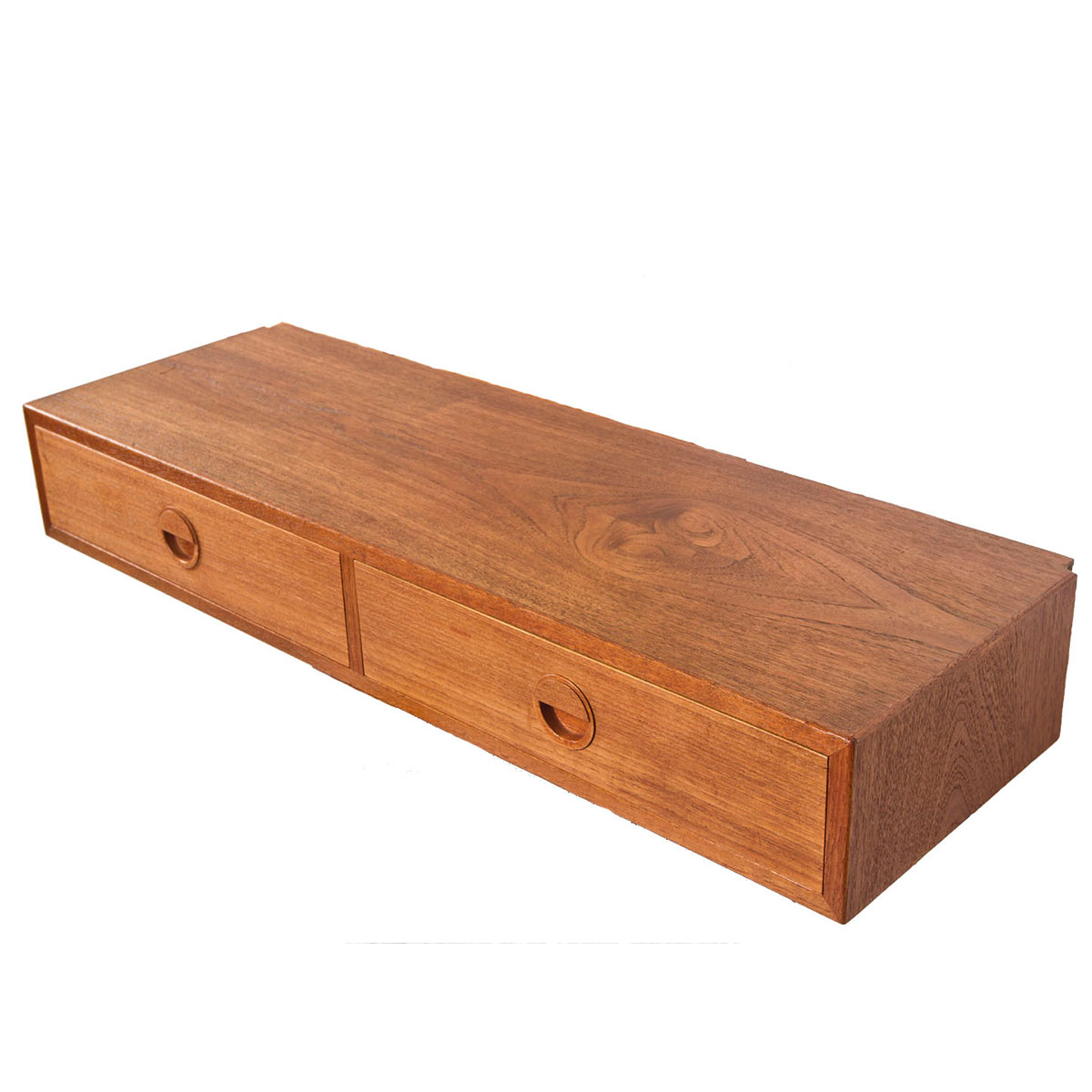 HG Danish Modern Teak Hanging Drawer Storage