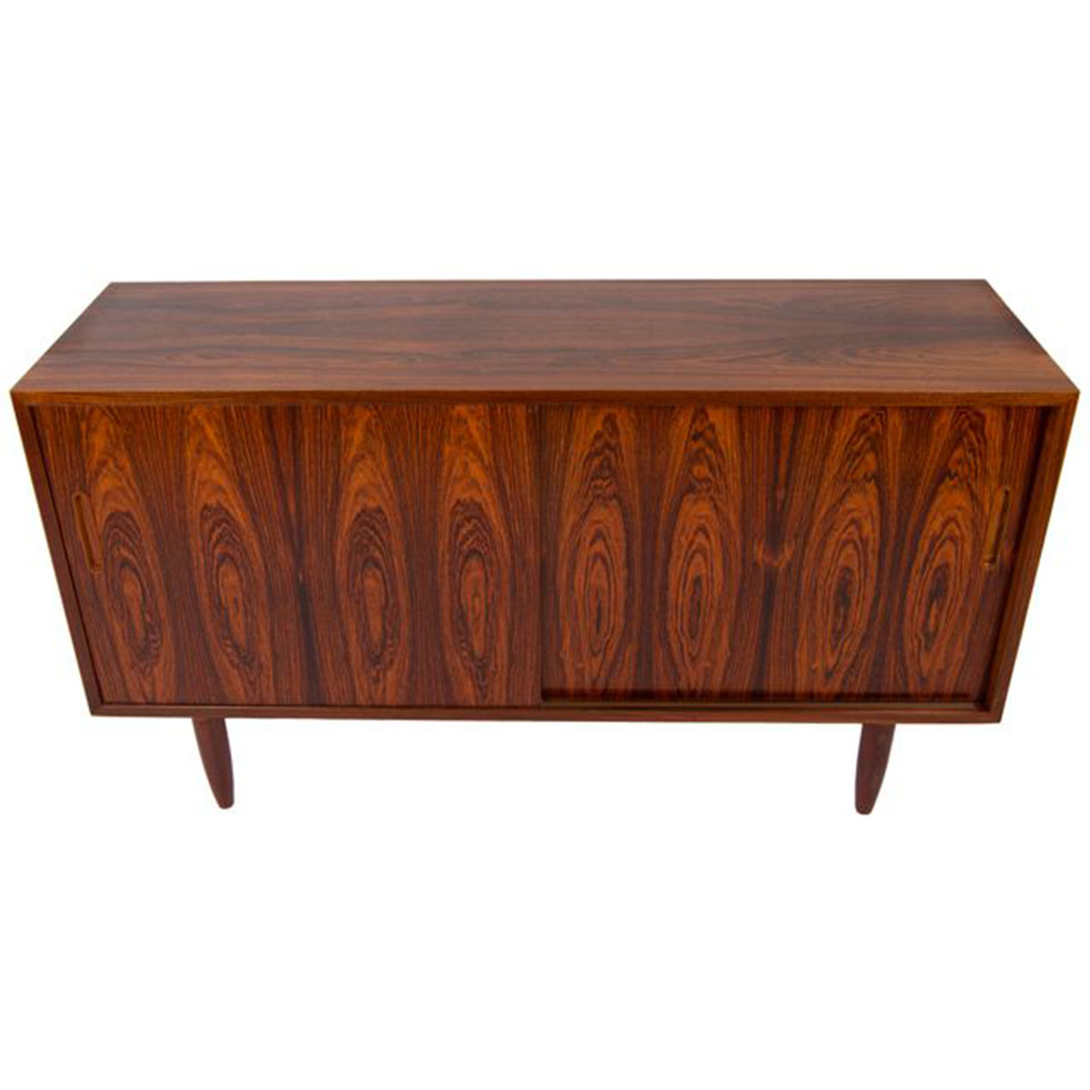 Condo-Sized Danish Modern Rosewood Sideboard / Media Cabinet