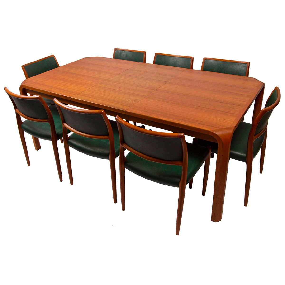 Set of 8 Danish Teak Niels Møller (#80) Dining Chairs