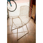 Harry Bertoia White Wire Chair for Knoll