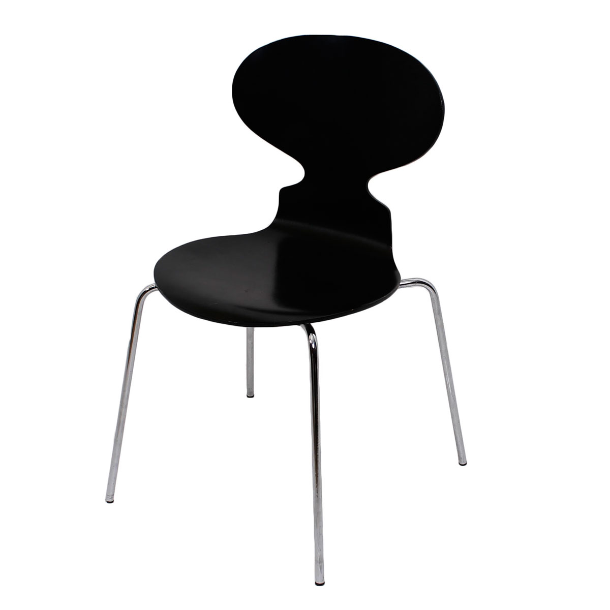 "Arne Jacobsen c. 1975 Fritz Hansen Black ""Ant Chair"""