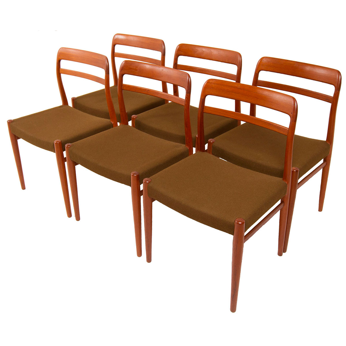 Set of 6 Modern Norwegian Teak Dining Chairs