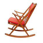 Rocking Chair by Frank Reenskaug for Bramin, Denmark