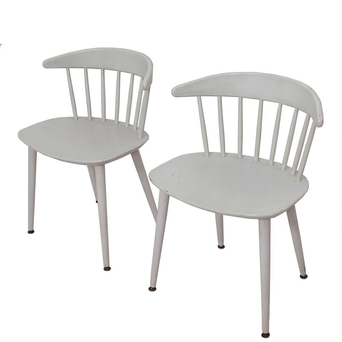 Pair of Ejvind A. Johansson for FDB Danish Chairs