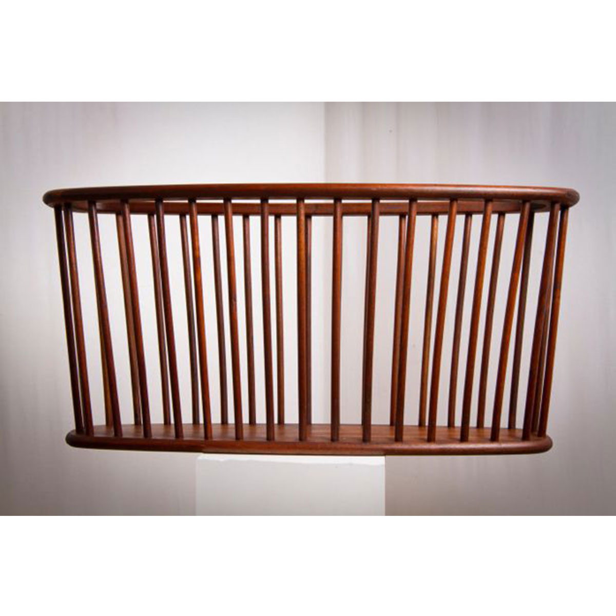 Beautiful Danish Modern Long Oval Magazine Rack