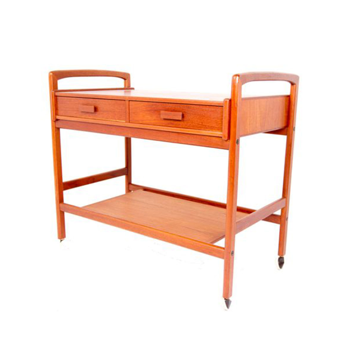 Danish Modern Teak Bar Cart w/ Drawers
