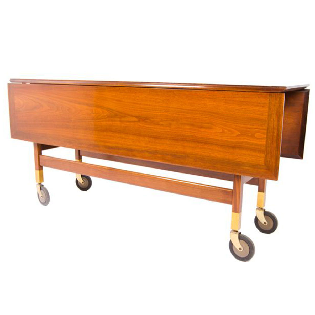 Multifunctional & Unique Console / Dining / Sofa Table w/ Brass Wheels