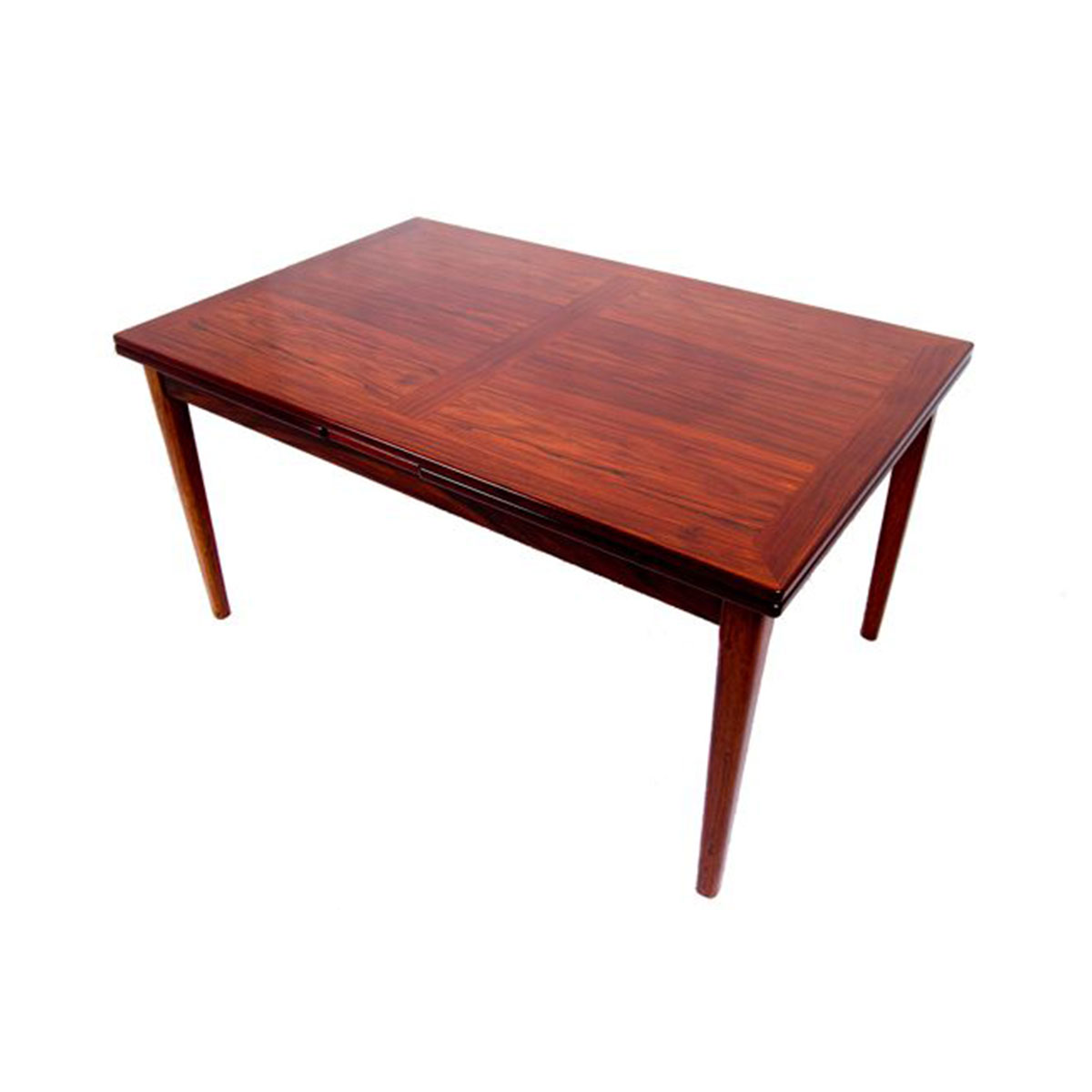 Compact Danish Modern Rosewood Expanding Dining Table