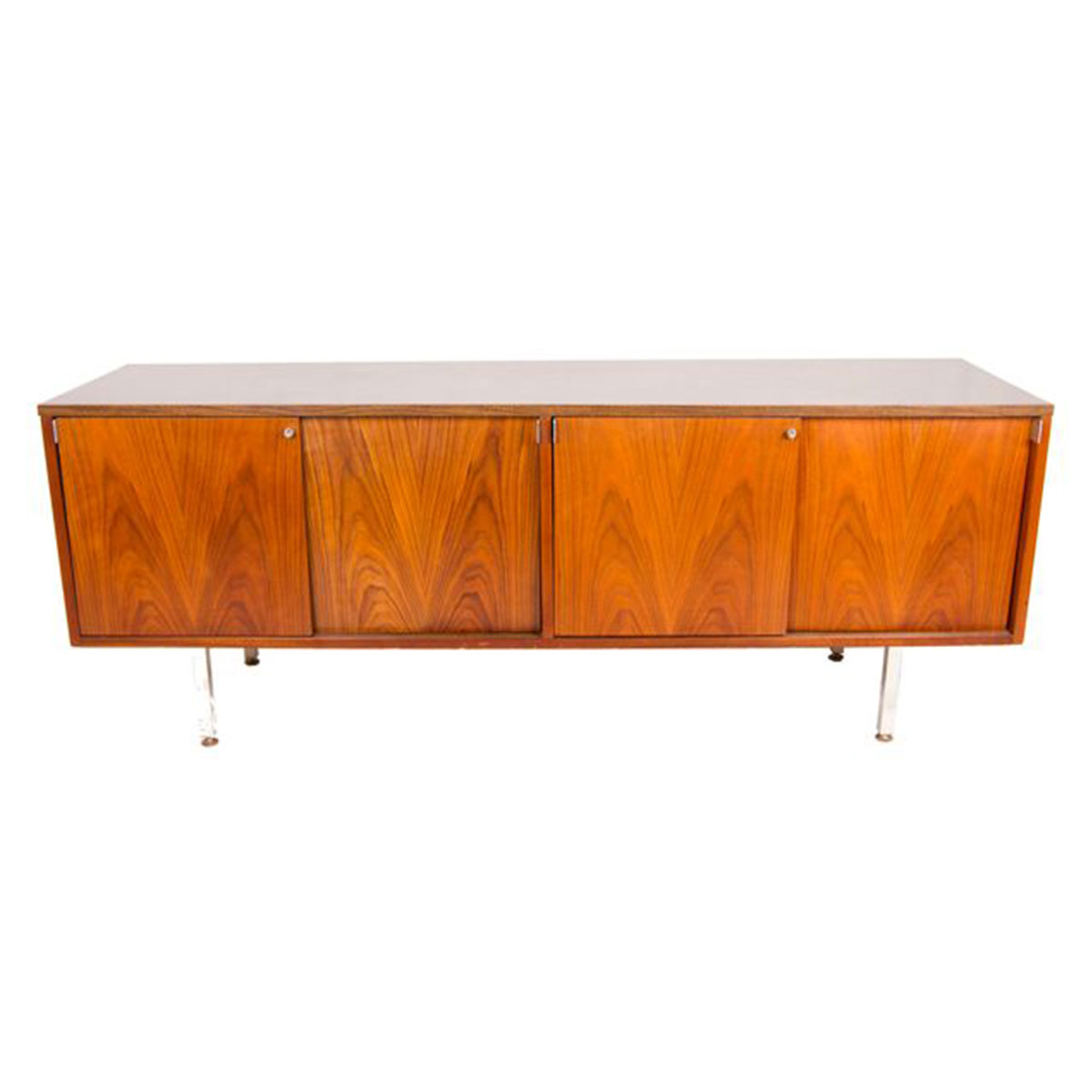 By Thonet, NY — Florence Knoll Style Low & Sexy Media Cabinet / Office Credenza / Sideboard