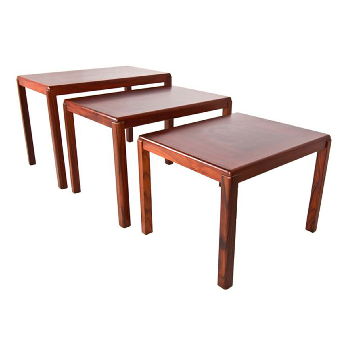 Danish Modern Rosewood Nesting Accent Tables