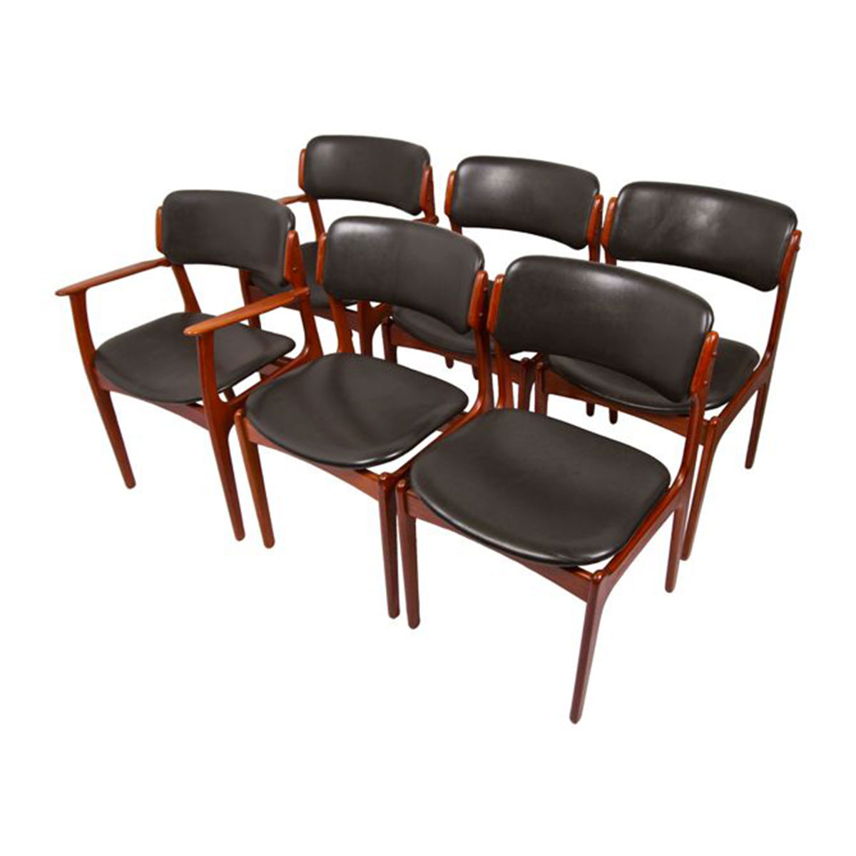 Set of 6 Erik Buch Dining Chairs