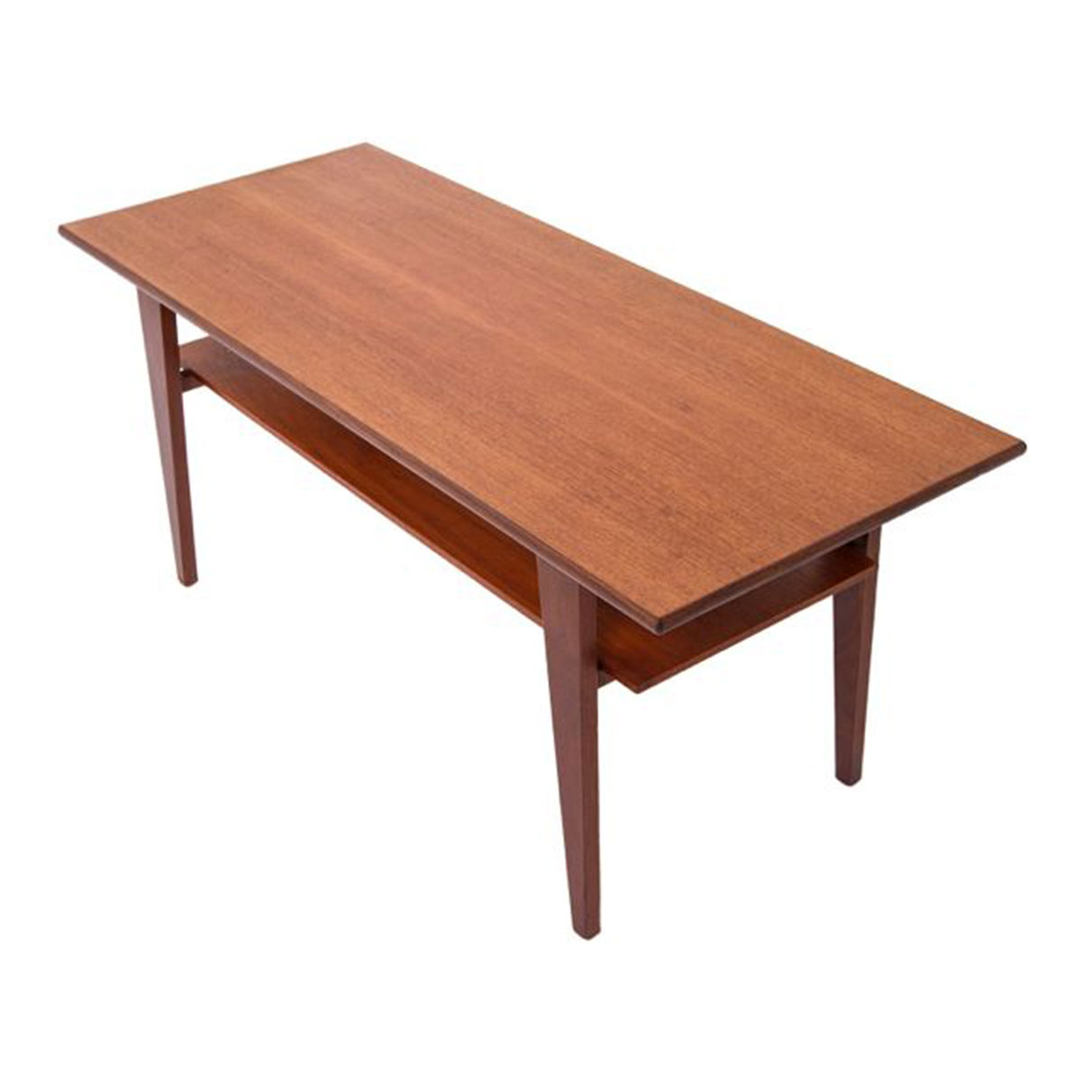 Compact Danish Modern Teak Coffee Table