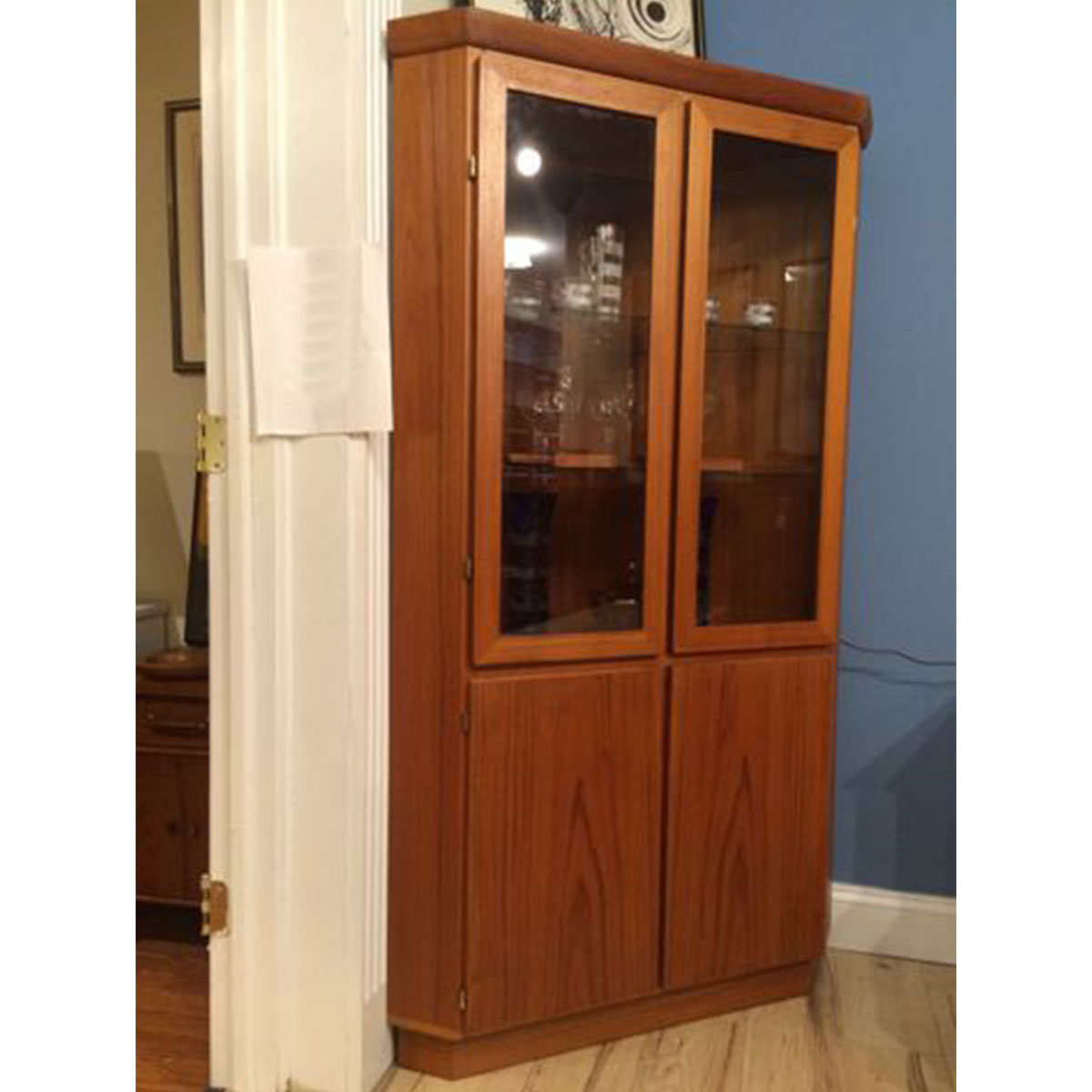 Danish Modern Teak CORNER Display Cabinet