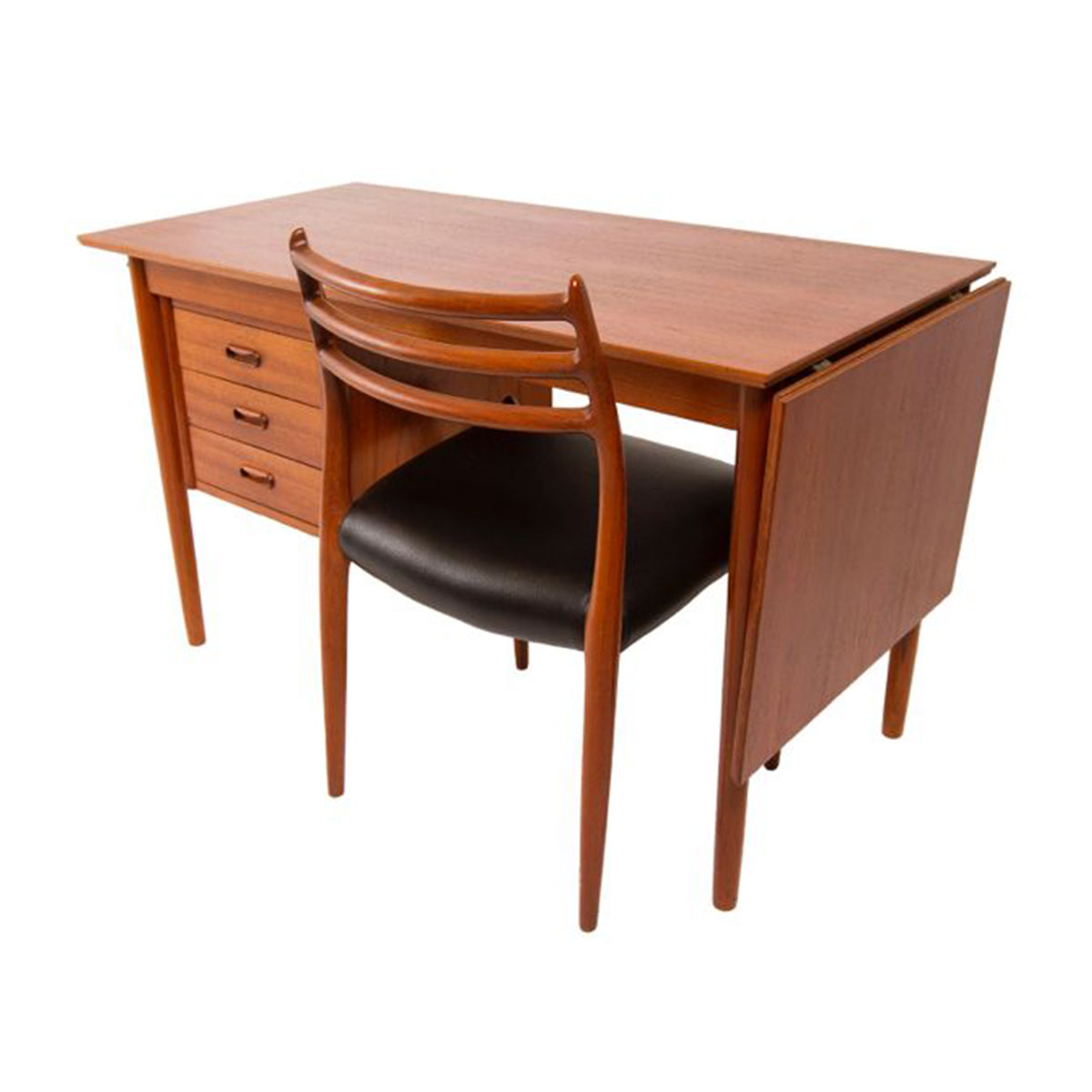 Arne Vodder Drop Leaf Teak Desk