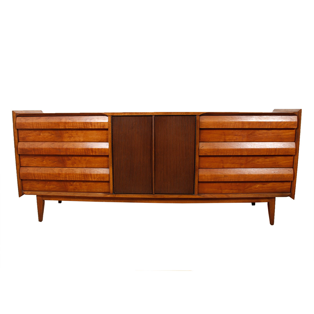 Shingle Front Walnut Dresser / Credenza