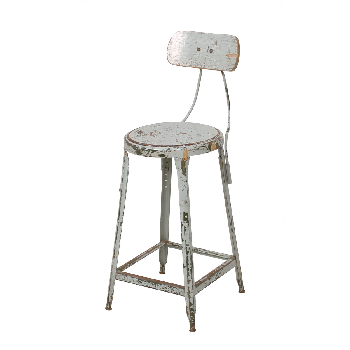 Vintage Industrial Chair w/ Pivoting Backrest