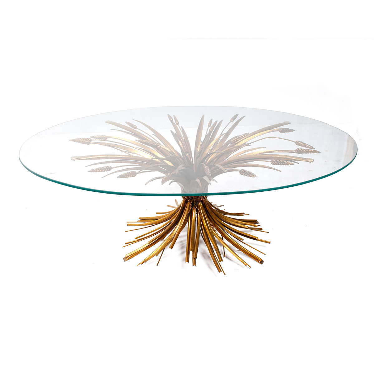 Coco Chanel Style Sheaf of Wheat Coffee Table
