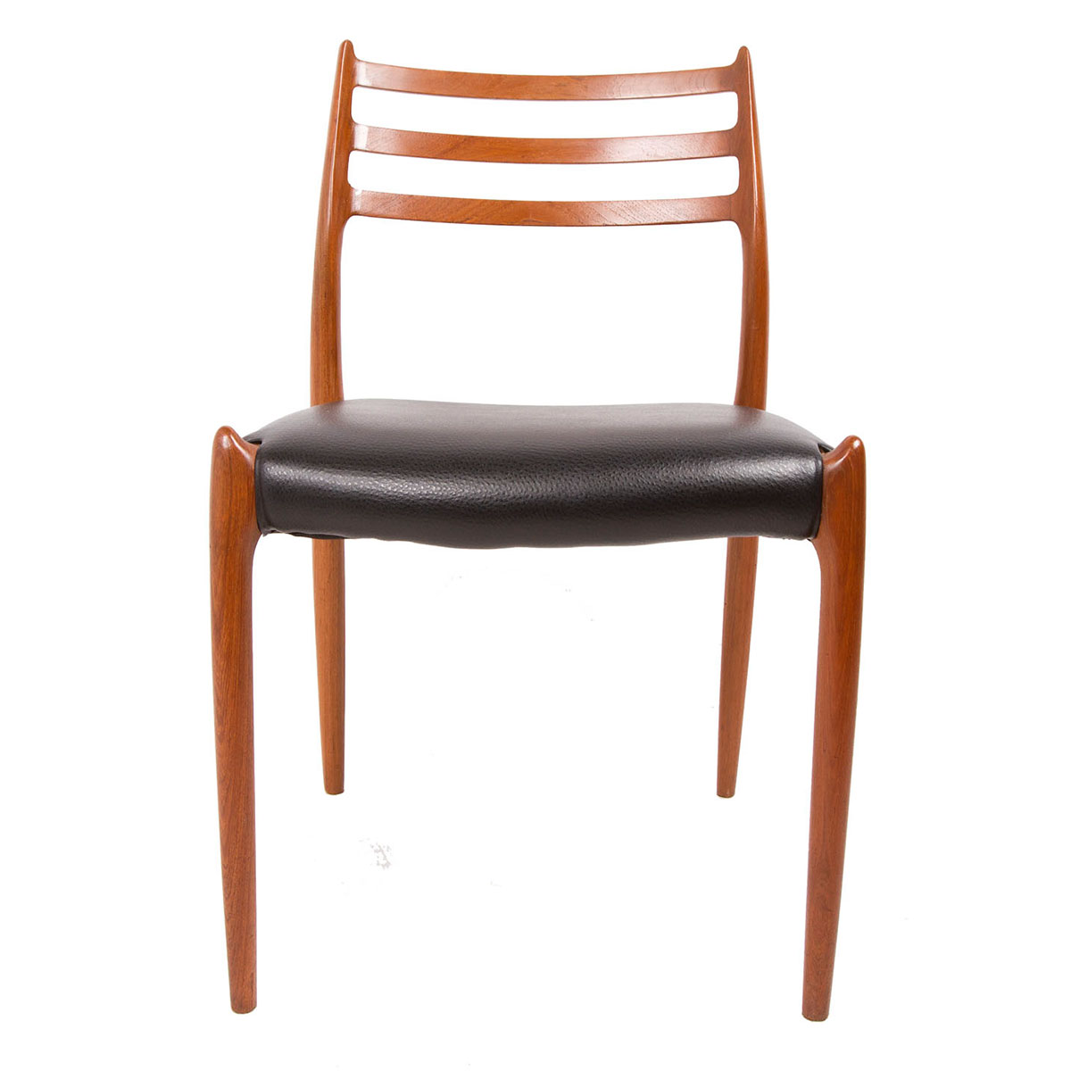 Newly Upholstered — Set of 4 Danish Teak Niels Moller #78 Dining Chairs