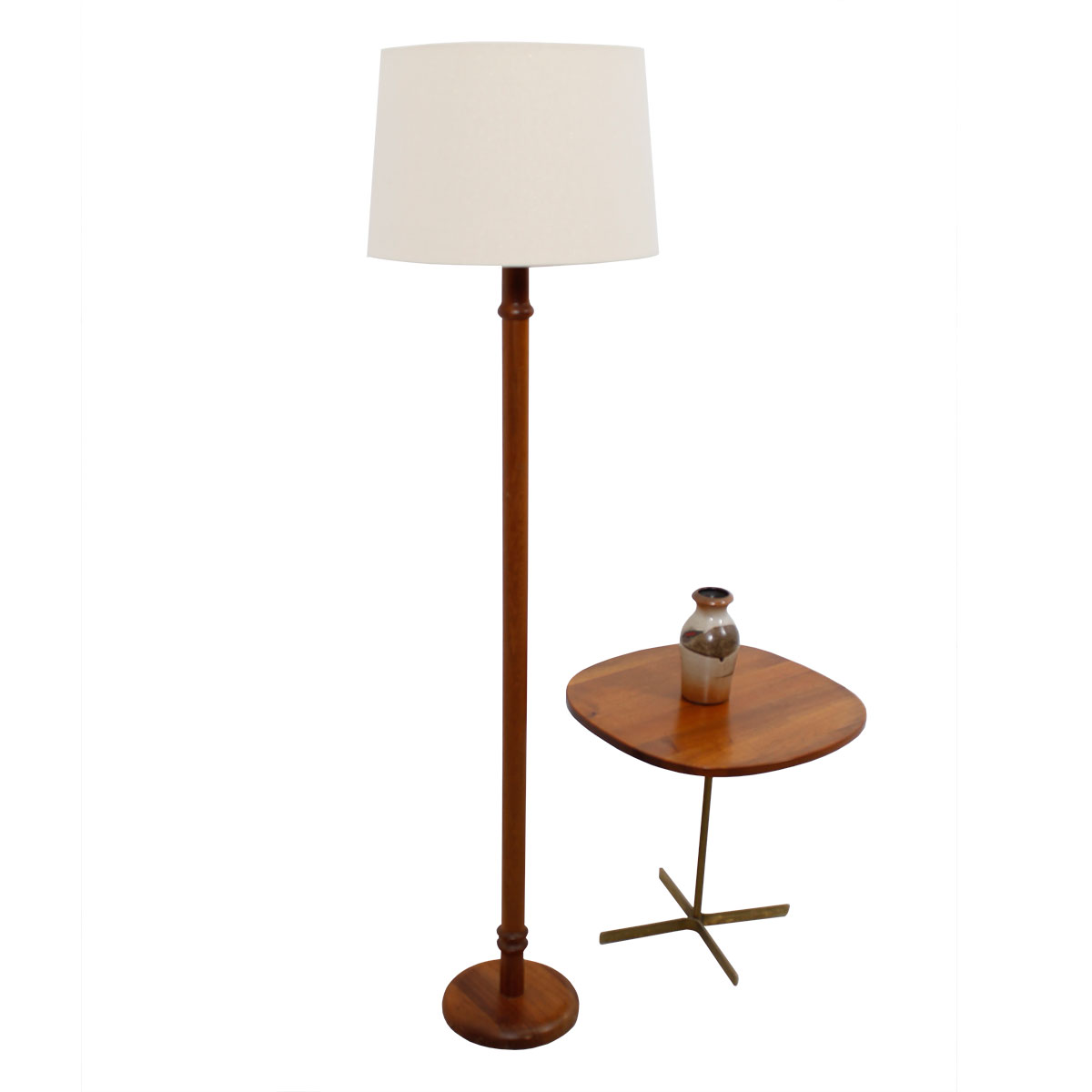 The Danish Modern Teak 'Ribbed' Floor Lamp